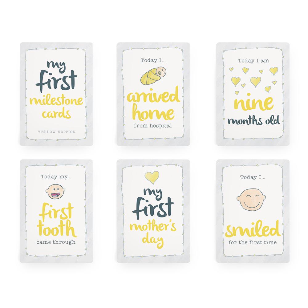 Baby Milestone Cards – Yellow Edition